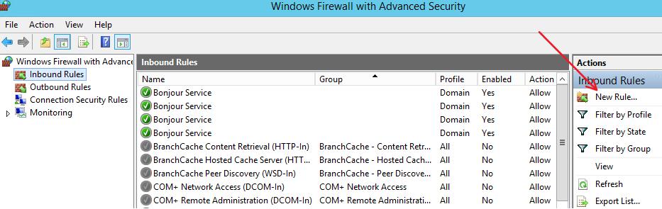 How to Configure Windows Server Firewall for FileMaker Server