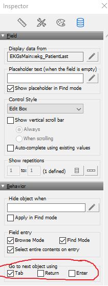 FileMaker tab fix